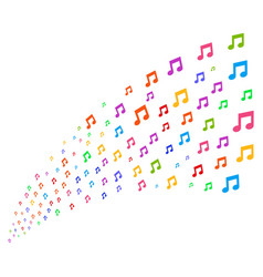 Source stream of music notes vector