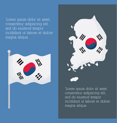 south korea infographic design vector image