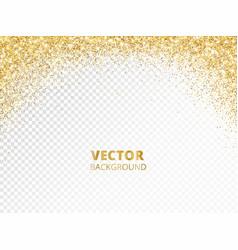 sparkling glitter border frame falling golden vector image
