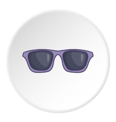 Summer glasses icon cartoon style vector image