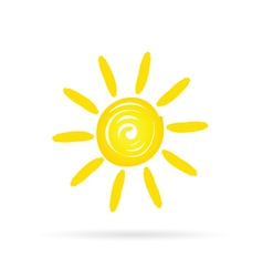 sun shine vector image