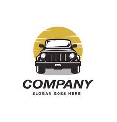 Suv car jeep logo icon template vector