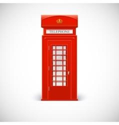 Telephone box Londone style vector image
