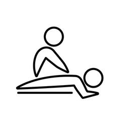 Thin line massage icon vector