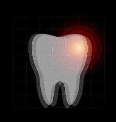 toothache icon tooth pain x-ray dentist vector image