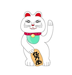 Traditional Chinese Cat of Luck Some believe it vector image