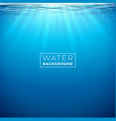 underwater blue ocean background design vector image
