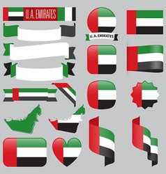 United Arab Emirates flags vector