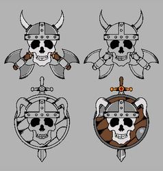Viking Skull Mascot vector