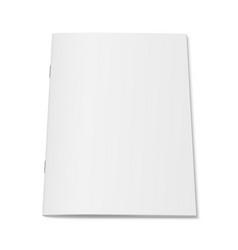white mock up magazine isolated vector image