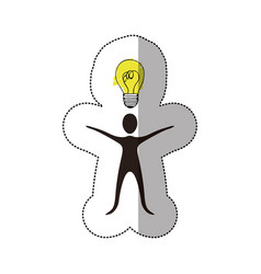 black person that have a good idea icon vector image