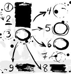 Brush strokes infographics options banner Black on vector image