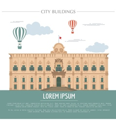 City buildings graphic template Grand Master vector image vector image