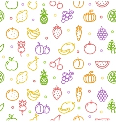 Fruits and Vegetables Background Pattern vector image vector image