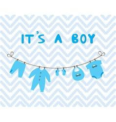 it is a boy vector image