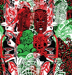 pattern with the style of Maori vector image