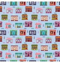 Shop facade pattern vector image vector image