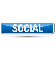 Social - abstract beautiful button with text vector