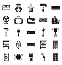 dwelling place icons set simple style vector image vector image