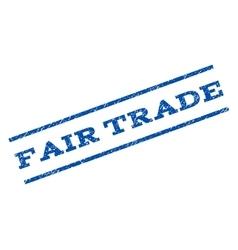 Fair trade watermark stamp vector