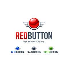 Red Button Logo vector image