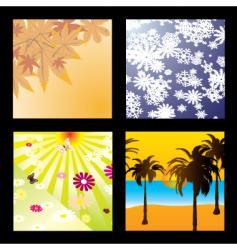 season squares vector image vector image