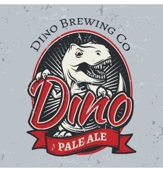 T-rex brewery insignia design Pale ale label vector image vector image