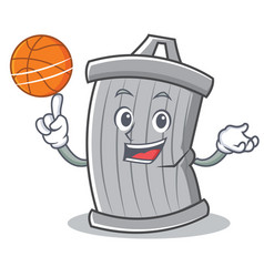 with basketball trash character cartoon style vector image vector image