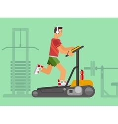 Athlete Running on a Treadmill vector image vector image