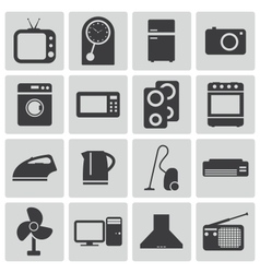 black home icons set vector image