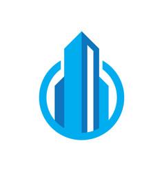 Circle real estate logo concept image vector