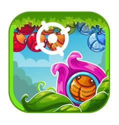 cute cartoon bright app icon vector image