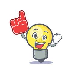 Foam finger light bulb character cartoon vector