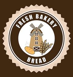 mill bakery design vector image