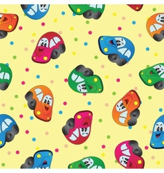 Seamless toy car background for baby boy vector image vector image