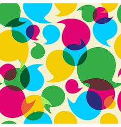 Social media bubbles pattern background vector image vector image