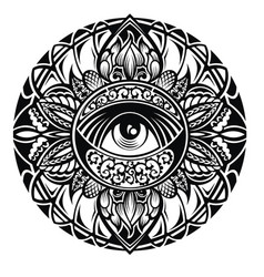 tattoo eye vector image