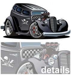 cartoon hotrod vector image vector image