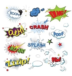 Comic colored speech bubbles in pop art style vector image vector image