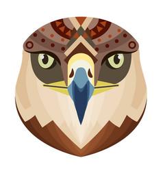 eagle head logo monkey decorative emblem vector image vector image