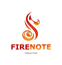 Fire Note Logo vector image