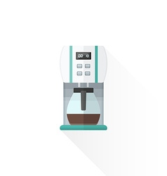 flat style white coffee machine vector image vector image