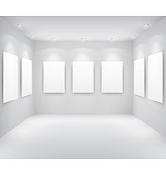gallery interio vector image vector image
