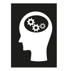 Man and brain vector image vector image