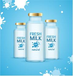 milk drink concept vector image