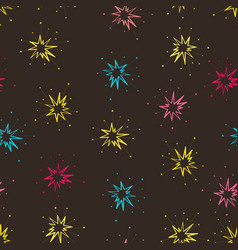 seamless background with celebratory salute vector image vector image