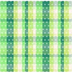 seamless plaid dots texture vector image
