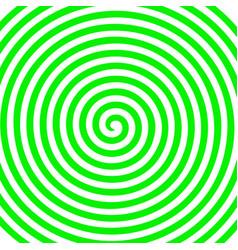 white green round abstract vortex hypnotic spiral vector image