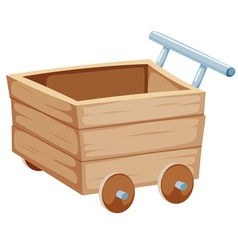 Wood trolley vector image vector image