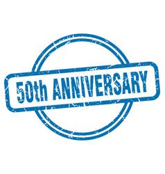 50th anniversary stamp 50th anniversary round vector